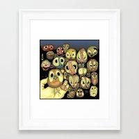 potato Framed Art Prints featuring Potato animals by Johan Malm