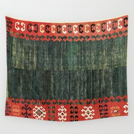 Cappadocian Central  Anatolian Antique Turkish Kilim Print Wall Tapestry