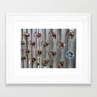 industrial Framed Art Prints featuring Industrial by Avigur