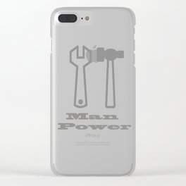 Man Power Clear iPhone Case