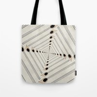 charmaine Tote Bags featuring Playing with Matches by eye in the sky