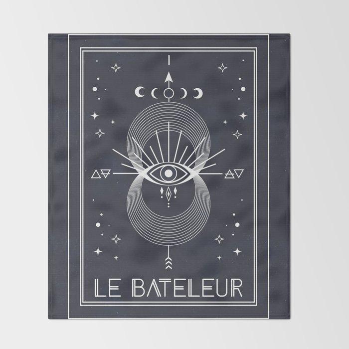 The Magician or Le Bateleur Tarot Throw Blanket