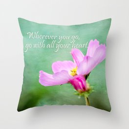 Go With Your Heart Throw Pillow