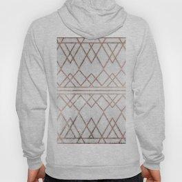 Chic & Elegant Faux Rose Gold Geometric Triangles Hoody