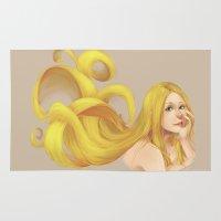 blondie Area & Throw Rugs featuring Blondie by Prajzis