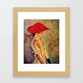 Red Hat Framed Art Print
