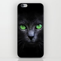 black cat iPhone & iPod Skins featuring Black Cat by Sitchko Igor