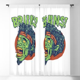 Zombie Looking For Brains Because He's Hungry Blackout Curtain
