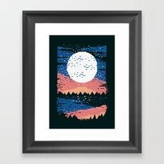 Starry Pixel Night Framed Art Print