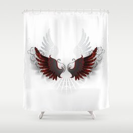 Black Wings Shower Curtain