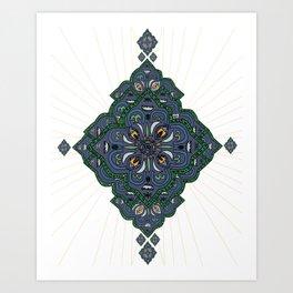 Lively Earth Mandala - v.2 Art Print