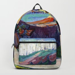 Emily Carr First Nations War Canoes in Alert Bay Backpack