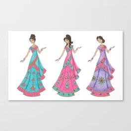 Indian Women Dancing Canvas Print