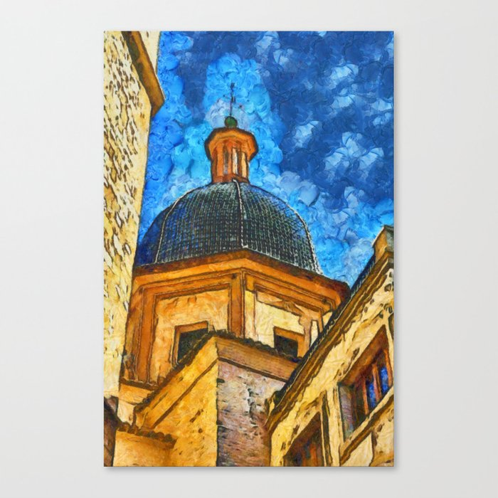 Church in Burriana Canvas Print