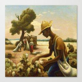 Classical Masterpiece 'Picking Cotton Under the Sun' by Thomas Hart Benton Canvas Print