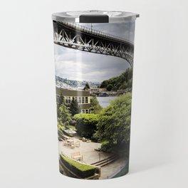 Seattle Fremont bridge - river view Travel Mug