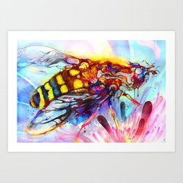 Bee Color-indulged Version Art Print