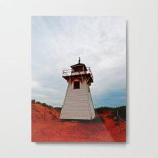 Lighthouse on Red Sands Metal Print