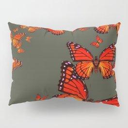 Orange is the  Color Of Monarch Butterflies Pillow Sham