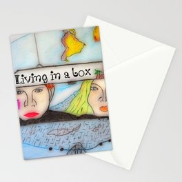 Living in a box Stationery Cards
