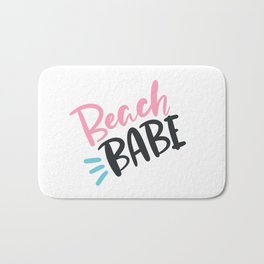 BEACH BABE. Bright colored lettering. Bath Mat