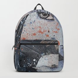 Lack Of Interest: Rust (graffiti dark lady with daisies) Backpack