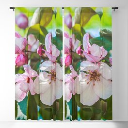 Pink apple blossom Blackout Curtain