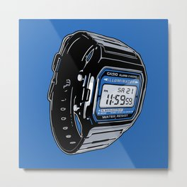 Casio F-105 Digital Watch Metal Print