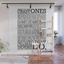 Here's To The Crazy Ones - Steve Jobs Wall Mural