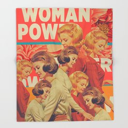 Woman Power Throw Blanket