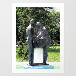 Belgrade / Bizarre Fountain Art Print
