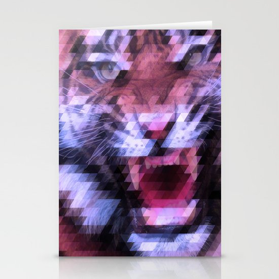 Pixel Tiger Stationery Cards