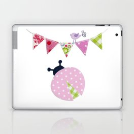 Ladybug with party flags Laptop & iPad Skin