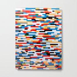 Multicolored Bright Building Bricks Pattern  Metal Print