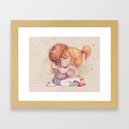 Cutie Pies Framed Art Print