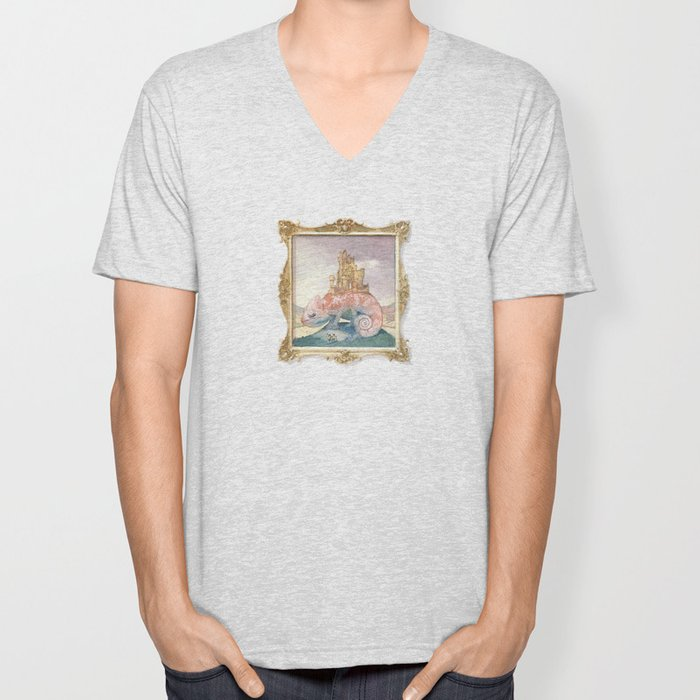 Camelot on a Chameleon Unisex V-Neck