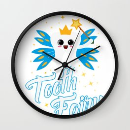 Cute Tooth Fairy Gift design Wall Clock
