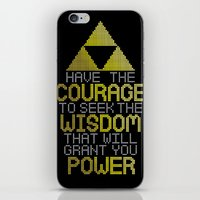 motivational iPhone & iPod Skins featuring Triforce Motivational by JesseThomas