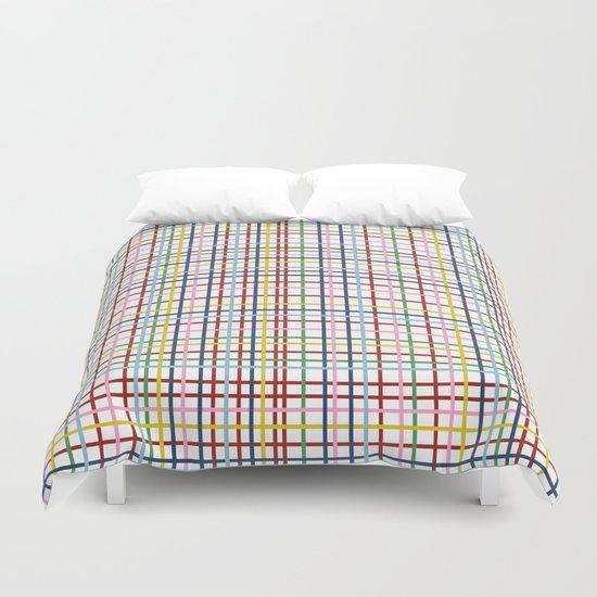 Rainbow Weave Duvet Cover