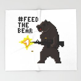 Bear Arms #2 Throw Blanket