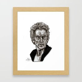Peter Capaldi - Doctor Who - Drawing Framed Art Print