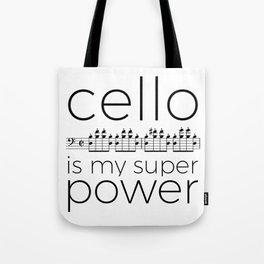 Cello is my super power (white) Tote Bag