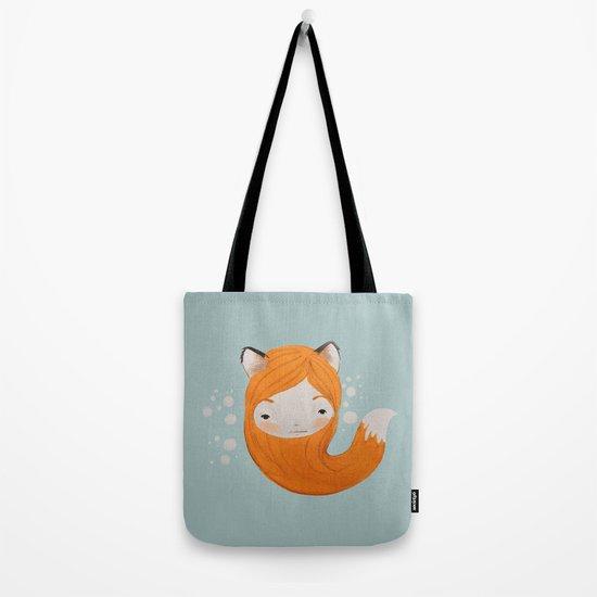 Fox Girl Tote Bag
