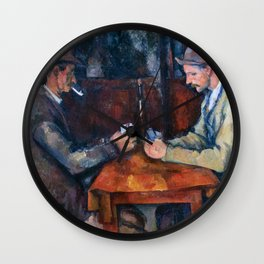 Paul Cezanne - The Card Players Wall Clock