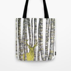 The Golden Stag Tote Bag