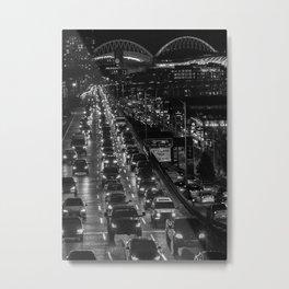 Seattle Viaduct Night Drive Metal Print