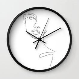 Lady Sketch Wall Clock