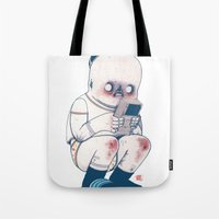 gameboy Tote Bags featuring GAMEBOY BOY by Morbix