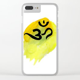 Aum Abstract Painting by Khandeswar Clear iPhone Case