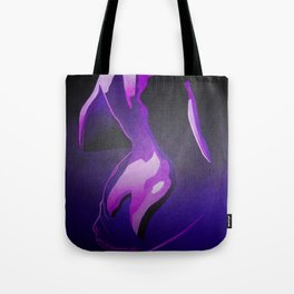Nude In Lilac and PurplePurple Young Beautiful Nude Woman With Towel Tote Bag